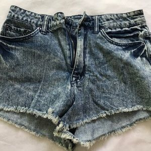 High Waisted jean shorts, size 28